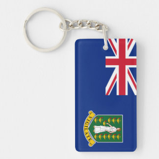 British Virgin Islands Double-Sided Rectangular Acrylic Keychain