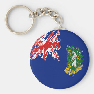 British Virgin Islands Flag Basic Round Button Keychain