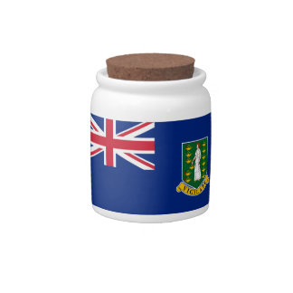 British Virgin Islands Flag Candy Dishes