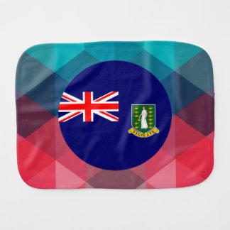 British Virgin Islands flag circle on modern bokeh Burp Cloth