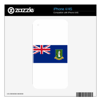 British Virgin Islands Flag Decal For The iPhone 4