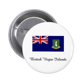 British Virgin Islands Flag Design Pinback Buttons