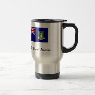 British Virgin Islands Flag Design 15 Oz Stainless Steel Travel Mug