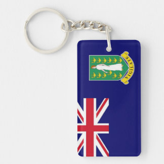 British Virgin Islands Flag Double-Sided Rectangular Acrylic Keychain