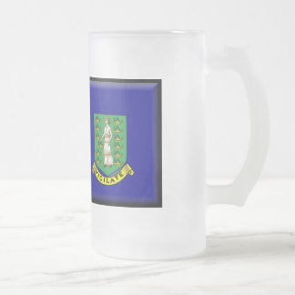 British Virgin Islands Flag Frosted Glass Beer Mug
