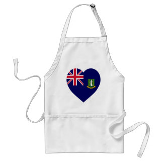 British Virgin Islands Flag Heart Apron