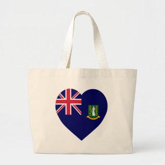 British Virgin Islands Flag Heart Canvas Bag