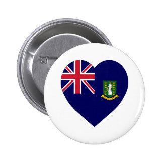 British Virgin Islands Flag Heart Pins