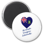 British Virgin Islands Flag Heart Magnet