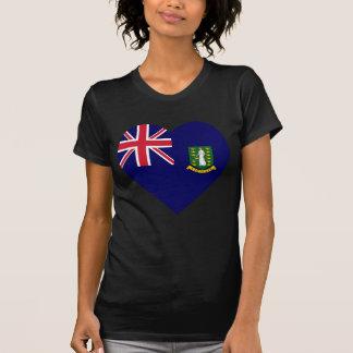 British Virgin Islands Flag Heart T-shirts