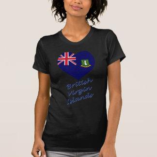British Virgin Islands Flag Heart Shirts