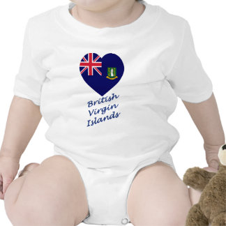 British Virgin Islands Flag Heart Tee Shirts