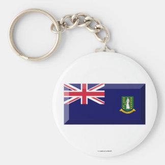 British Virgin Islands Flag Jewel Basic Round Button Keychain