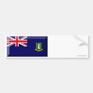 British Virgin Islands Flag Jewel Car Bumper Sticker