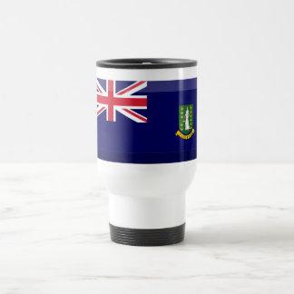 British Virgin Islands Flag Jewel 15 Oz Stainless Steel Travel Mug