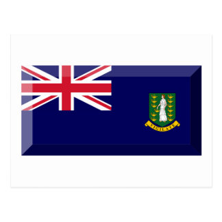 British Virgin Islands Flag Jewel Postcard