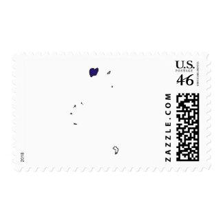 British Virgin Islands flag map Postage Stamps