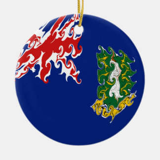 British Virgin Islands Flag Double-Sided Ceramic Round Christmas Ornament