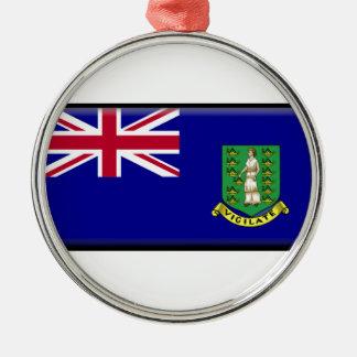 British Virgin Islands Flag Round Metal Christmas Ornament