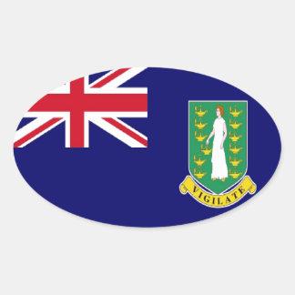 British Virgin Islands Flag Oval Sticker