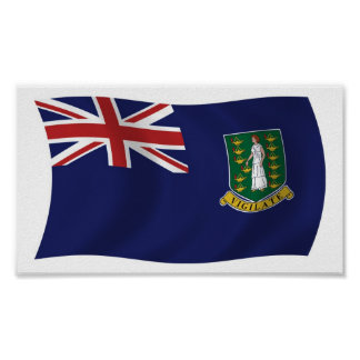 British Virgin Islands Flag Poster Print