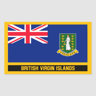 British Virgin Islands Flag Rectangular Sticker