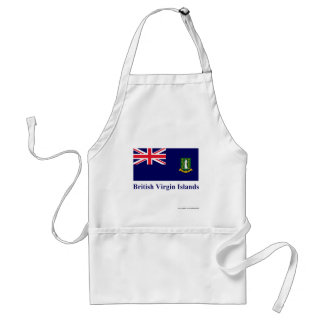 British Virgin Islands Flag with Name Adult Apron