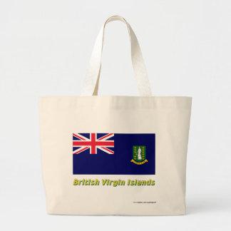 British Virgin Islands Flag with Name Tote Bag