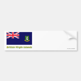 British Virgin Islands Flag with Name Car Bumper Sticker