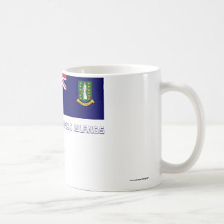 British Virgin Islands Flag with Name Coffee Mug