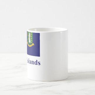 British Virgin Islands Flag with Name Coffee Mug