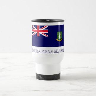 British Virgin Islands Flag with Name 15 Oz Stainless Steel Travel Mug