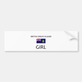 BRITISH VIRGIN ISLANDS GIRL BUMPER STICKER