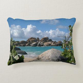 British Virgin Islands, Gordo, The Baths Beach Accent Pillow