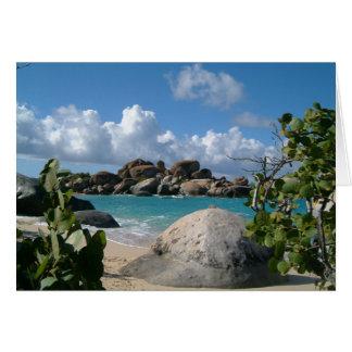 British Virgin Islands, Gordo, The Baths Beach Card
