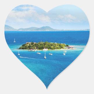 British Virgin Islands Heart Sticker