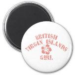 British Virgin Islands Pink Girl Fridge Magnet