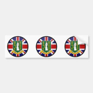British Virgin Islands quality Flag Circle Car Bumper Sticker