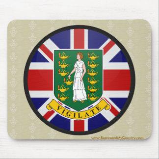 British Virgin Islands quality Flag Circle Mousepad