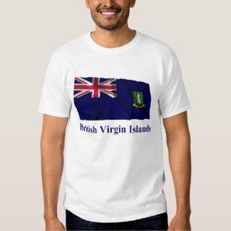 British Virgin Islands que agitan la bandera con Playera