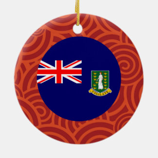 British Virgin Islands round flag Double-Sided Ceramic Round Christmas Ornament