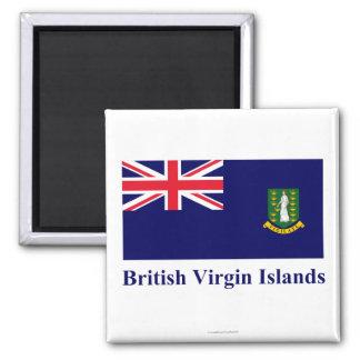 British Virgin Islands señalan por medio de una ba Imán Cuadrado