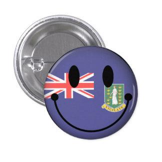 British Virgin Islands Smiley Pinback Buttons