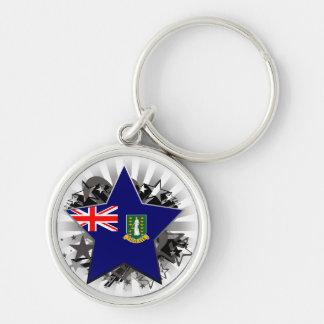British Virgin Islands Star Key Chains