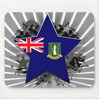 British Virgin Islands Star Mousepads