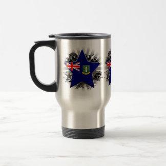 British Virgin Islands Star 15 Oz Stainless Steel Travel Mug