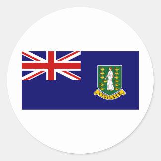 British Virgin Islands Round Stickers