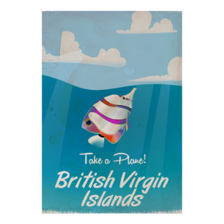 British Virgin Islands Vintage vacation Poster