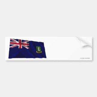 British Virgin Islands Waving Flag Car Bumper Sticker
