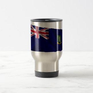 British Virgin Islands Waving Flag 15 Oz Stainless Steel Travel Mug
